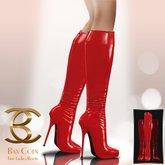 BAX Prestige Boots Red Latex