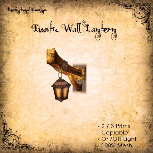 [DDD] Rustic Wall Lantern