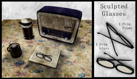 Sculpted Glasses  - BOXED