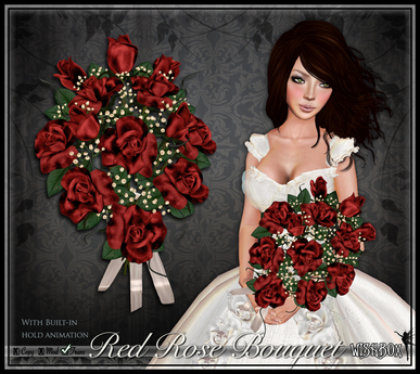 [Wishbox] Red Rose Bouquet - Valentine's Day gift, Romantic present, Sculpted roses, Baker's dozen