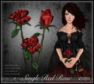 [Wishbox] Single Red Rose - One open and one closed sculpted rose with hold animation! Valentine's Day