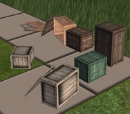 Package of wooden crates, boxes
