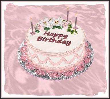 Amazing Second Life Marketplace One Tier Sweetheart Birthday Cake Personalised Birthday Cards Epsylily Jamesorg
