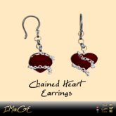 IMaGE Factory Chained Heart Earrings