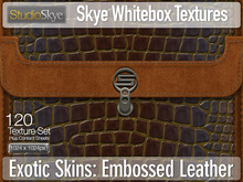 Exotic Skins | Skye WhiteBox Textures - 120 Full Perms Embossed Leather Textures