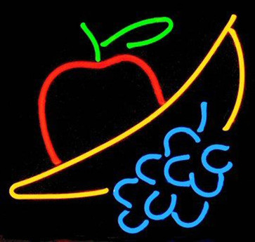 Neon Fruit Sign