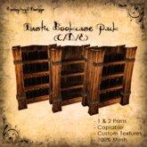 [DDD] Rustic Bookcase SET (Tall & Wide) C/D/E