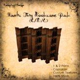 [DDD] Rustic Bookcase SET (Tall & Thin) C/D/E