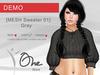 :: One Store :: [MESH Sweater 01] Gray DEMO