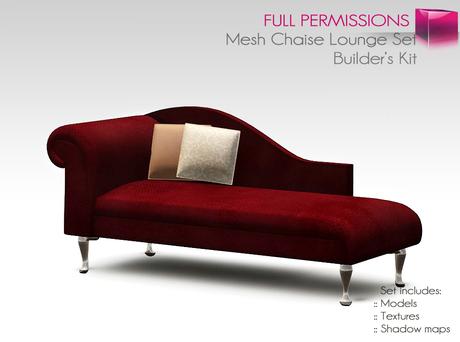 Full Perm Mesh Chaise Lounge Set Builder's Kit