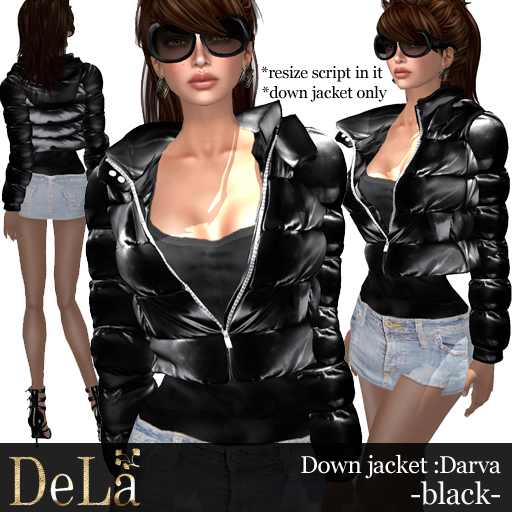 "=DeLa*= Down Jacket ""Darva"" Black"
