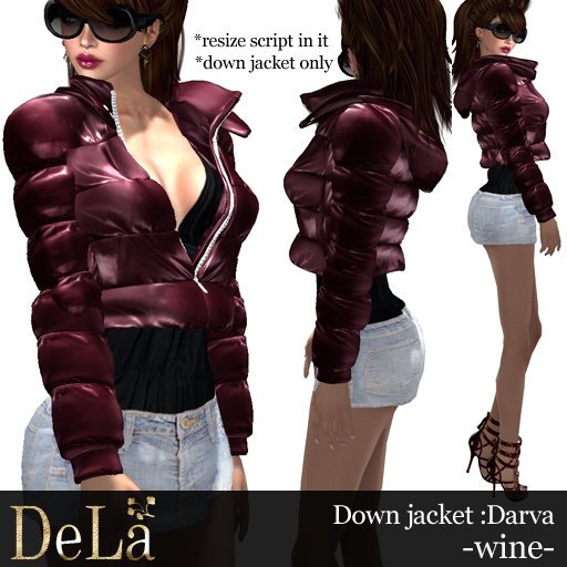 "=DeLa*= Down Jacket ""Darva"" Wine"