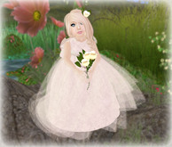 *Baby Pie* The Flower Girl  Beautiful & Breathtaking Children's/ Girl's Tot's Ivory Flower Girl Gown *INCLUDES FLOWERS!*