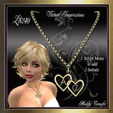 Virtual Impressions Lovers Hearts Necklace in Gold