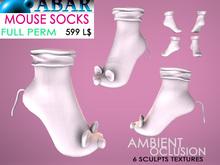 ABAR - AV011 MOUSE SOCKS CHILD / KID / BABY / - sculpt - AMBIENT OCLUSION  - Full Perm