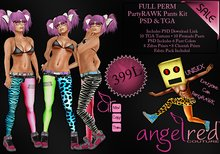 AngelRED - FULL PERM PartyRAWK Pants Kit