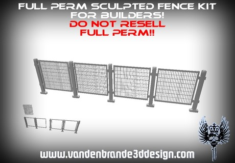 ~Full perm iron fence set + maps! 1 prims each part see picture 2