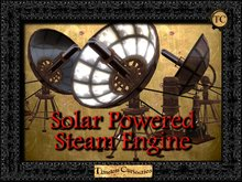 TC STeampunk Solar Steam Engine