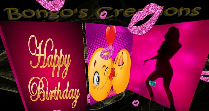 Groovy Second Life Marketplace Bc Musical Birthday Card V2D Inside Personalised Birthday Cards Rectzonderlifede
