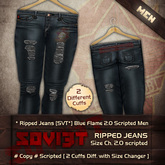 "Boy Ripped jeans [SVT*] Blue Flame 2.0 Scripted, Men, ""PROMO""!!!"