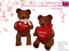 Full Perm Mesh Brown Valentine Teddy Bear - Builder's Kit Set
