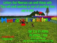 Meeroos Love Letters (Set 2)