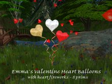 Emma's Heart Balloons with hearts fireworks