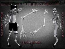 ~~FREE-BIRDS~~  EVIL BONES  LIGHT Male Arms