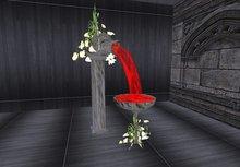 Wedding floral decoration goth