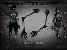 ~~FREE-BIRDS~~ box EVIL BONES DARK Male Arms