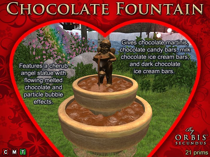 Valentine's Day Chocolate Fountain - Gives Treats