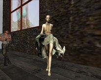 WALKING the catwalk woman ANIMATION