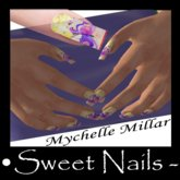 Longs Nails White 10, butterfly Collection.