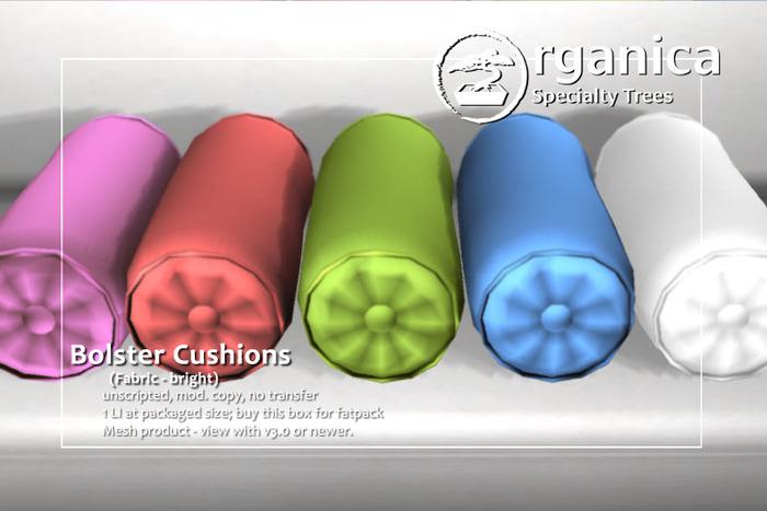 [ Organica ] Bolster Cushions - Bright Fabric