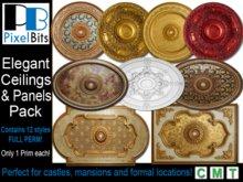 Ornate Ceilings & Panels Pack. Full Perm & 1 prim each!
