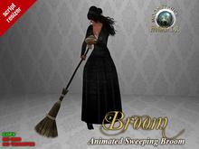 !! MOONSTRUCK !! Animated Sweeping Broom