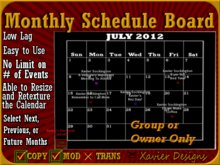 XD Monthly Calendar and Schedule Board (Copyable) Perfect For Meetings,Events, Club Announcements and Organization