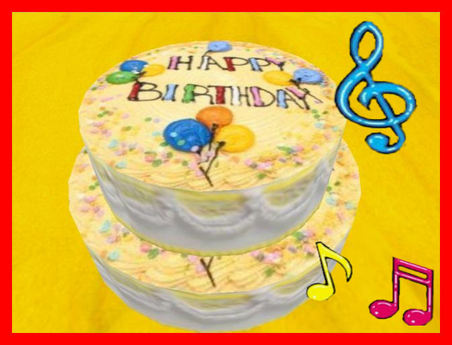 Excellent Second Life Marketplace Birthday Cake With Music Song Funny Birthday Cards Online Elaedamsfinfo