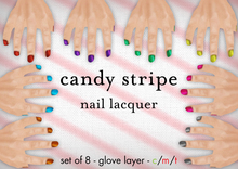 [croire] Candy Stripe Nail Lacquer (set of 8 nail polishes, manicure glove layers in candy colors)