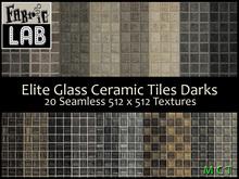 Fabric Lab Elite Seamless Glass Ceramic Mosaic Tile Darks Texture Set Bathroom Tile Textures