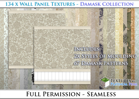 134 Wall Panel Textures Seamless Vintage Style