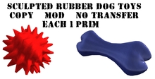 Rubber Dog Toys Sculpted - Each 1 prim