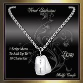 Virtual Impressions, Dogtag ID Necklace in Platinum for Men