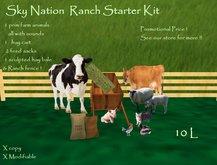 Sky Nation   Ranch / Farm Starter Kit & Animals ( BOXED )