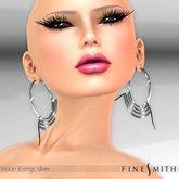Finesmith Vision earrings silver - hoop earrings