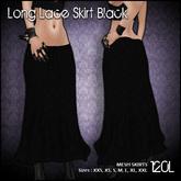 [ SAKIDE ] Long Lace Skirt MESH Black