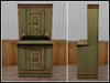 RE Country Pine Pie Cupboard - One Prim - Kitchen/Cafe Decor