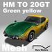 HM TO 20GT M GreenYellow 100% Mesh vehicle