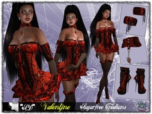 **SD**XX Valentjne Outfit ( Valentine Red Gift ) ( Red suit )