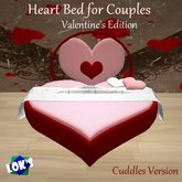 SALE 75% OFF Lok's Cuddles Heart Bed - Valentine's Day Edition